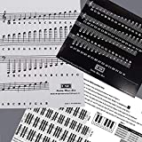 Piano and Keyboard Music Note Full Set Stickers for