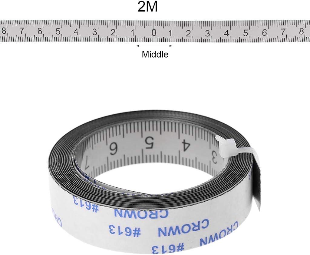 BIlinli Edelstahl Gehrungsschiene Ma/ßband Selbstklebende Metrische Skala Lineal 1 Mt-3 Mt F/ür T-Track Router Tischkreiss/äge Holzbearbeitungswerkzeug