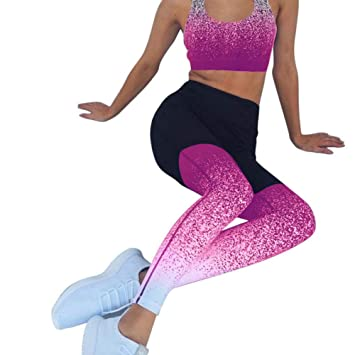 Dongqilai Traje Deportivo Mujeres Gradient Fitness Yoga Set ...