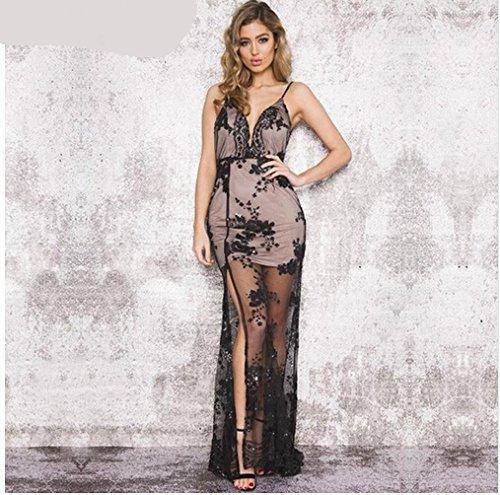 Noche Noche Casual Vestido black Vestido De De MeiZiZi Meizizivestido Iw0Oq5O1