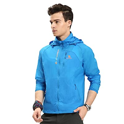 Camel Men's Lightweight Running Sun Protection Jacket Water Resistance Skin Coat Color