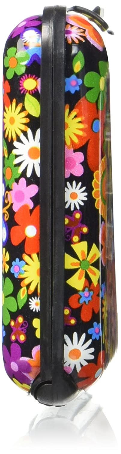 SODIAL Color Metal Aluminum Business ID Credit Card Case Wallet Holder Box Purse Pocket Colorful flowers