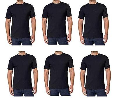 3632cb3d3b78 Kirkland Signature Men's Crew 100% Cotton Tagless Neck Tee, 6-Pack (Black