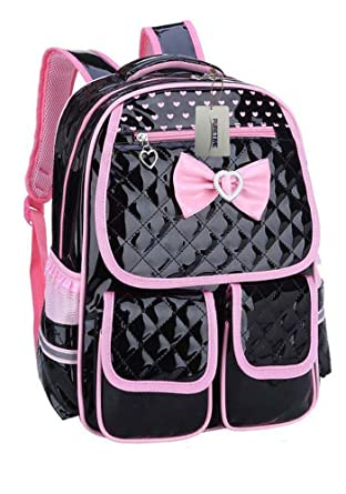 Puretime Girls Cute Pu Leather School Backpack Satchel Travel Bag ...