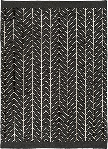 RugPal Contemporary Rectangle Area Rug 2'x3' in Onyx Color From Drake (Drake Black Rugs)