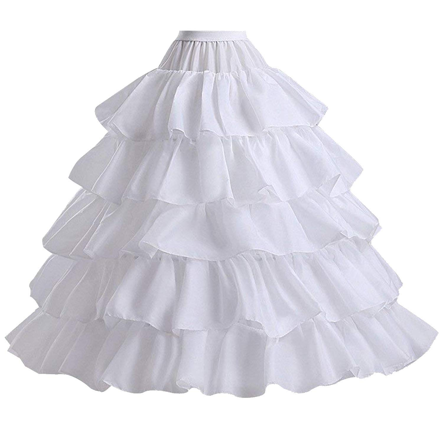 Women's Petticoats A line Crinoline Half Slips Underskirt for Bridal Dress Hoop Skirt for Wedding Dress Ball Gown Miao Duo PE5