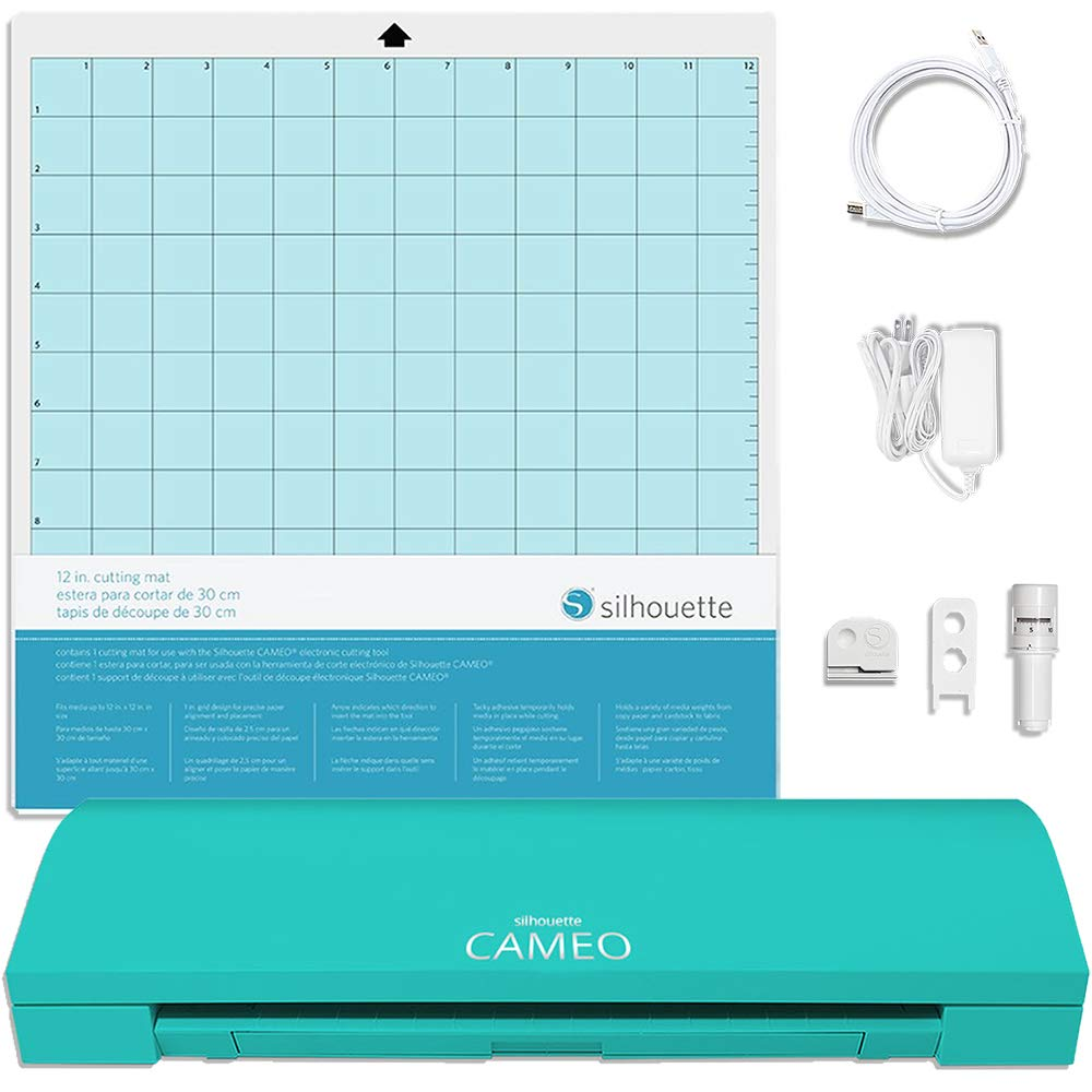 Siser Easyweed T-Shirt Vinyl Silhouette Teal Cameo 3 Bluetooth Starter Bundle with 36 12x12 Oracal Sheets 24 Sketch Pens Membership Transfer Paper Guide Class