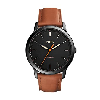 05516c38373f Fossil Men s The Minimalist Quartz Stainless Steel and Leather Casual Watch