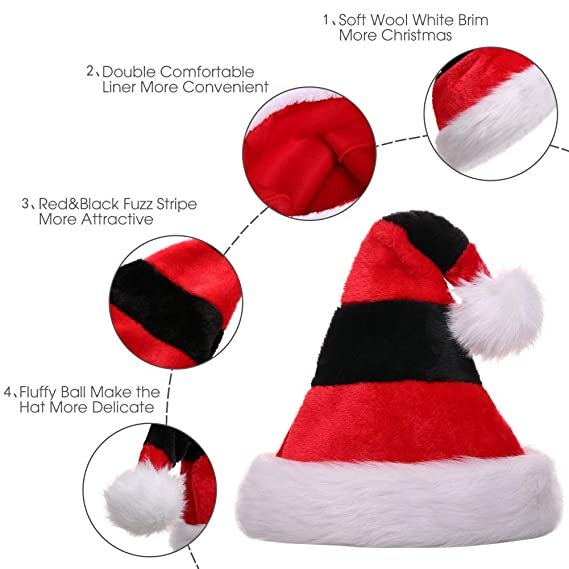 CITÉTOILE Cappello da Babbo Natale 696bf7038f45