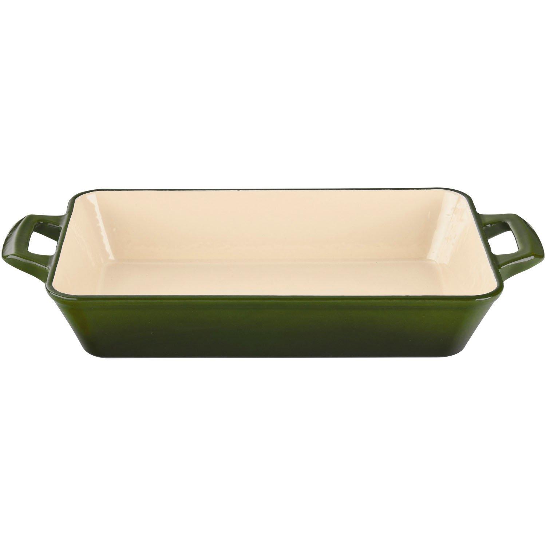La Cuisine 2.9 Qt Enameled Cast Iron Deep Roasting Pan, Green