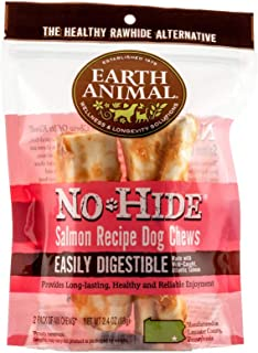 product image for Earth Animal Small No-Hide Dog Chews - Made in The USA, Natural Rawhide Alternative Treats (Salmon, Small - 2 Chews)