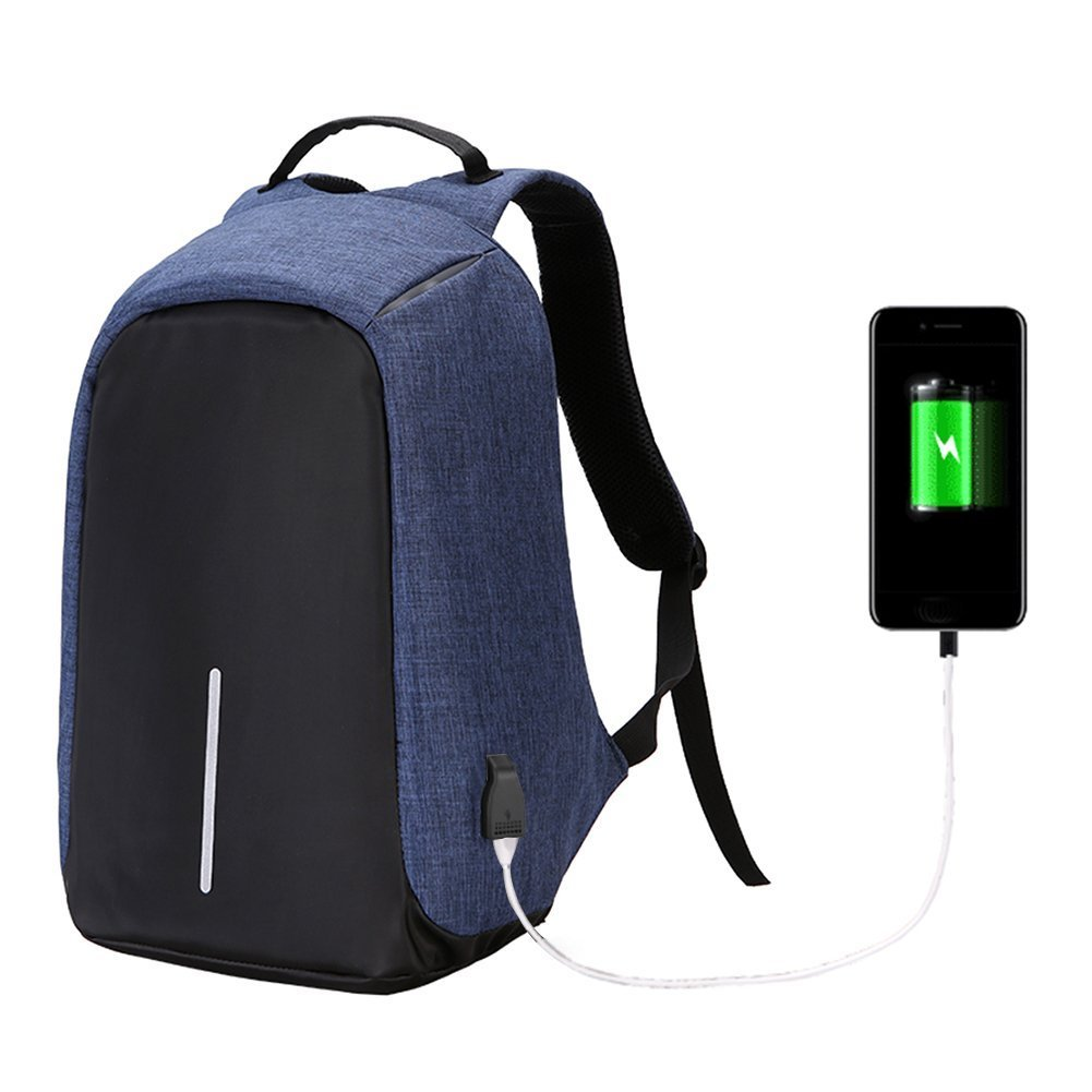 7f5373725b TwinkBling Anti-theft Laptop Backpack Large Capacity Casual Daypacks for  Travel School Work with USB Charging Port (Blue)  Amazon.co.uk  Sports    Outdoors