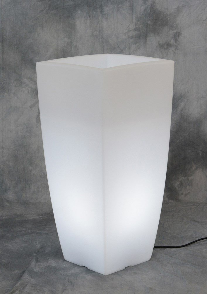 VASE HOME LIGHT PANEL CM.40X40X90H.GHIAC / BIA-