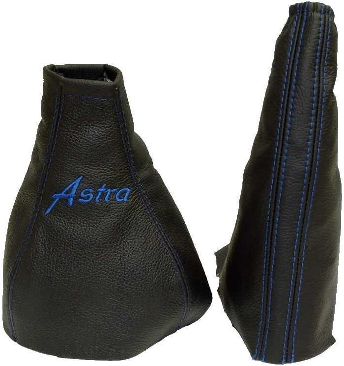 BLACK STITCH LEATHER HANDBRAKE+PLASTIC FRAME FOR VAUXHALL ASTRA G MK4 98-05