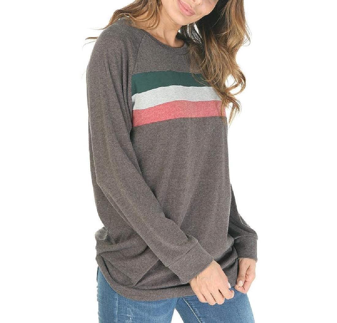 YUNY Comfy Chic Colorblock Coat Jacket Pullover Sweatshirt Hoodies Coffee XS