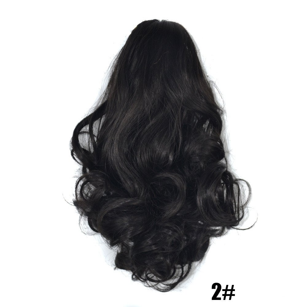 Sumcreat Claw Thick Wavy Curly Wigs Extensions For Women Short Ponytail Horsetail Clip Hair Sumcreat Fashion