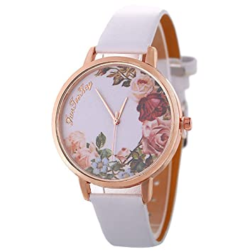 FENKOO Vintage Relojes para Mujeres, Mujeres de Flores, Mujeres Relojes Retro, Vintage Mujer Relojes, Regalos para Usted, Regalo de cumpleaños