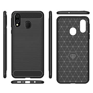 Samsung Galaxy A30 Case,Galaxy A20 Case,MAIKEZI Soft TPU Brushed Anti-Fingerprint Full-Body Protective Phone Case Cover for Samsung Galaxy ...
