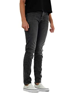 dd105812 Levi's Womens Womens 501 Skinny Altered Moody Blues Jeans in Denim ...