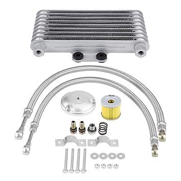 KIMISS 125ml Kits de Radiador de Enfriador de Aceite del Motor del Motocicleta para 125CC 150CC 200CC: Amazon.es: Coche y moto