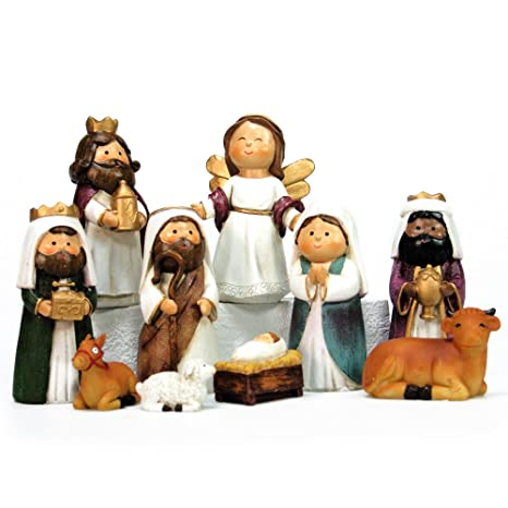 73e231c9bbf Belén de Navidad Moderno Resina para decoración navideña Christmas -  LOLAhome