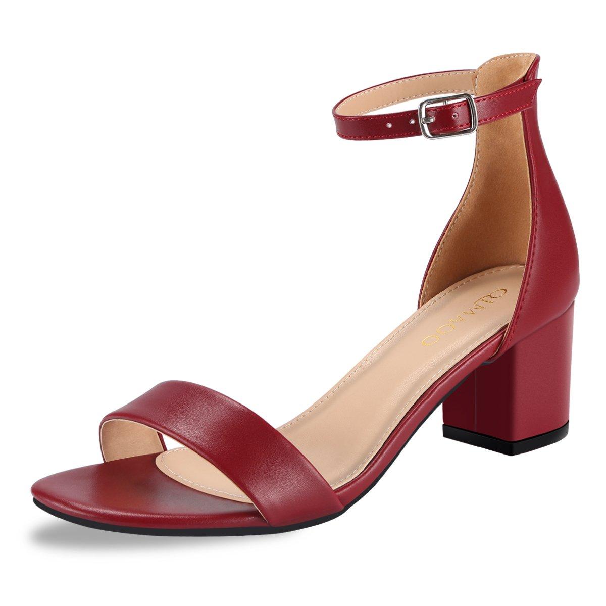 Qimaoo Vin B076GJZ2KB Femme Été Sandales à Talon 19660 Carré, Chaussures à Haut Talon de 6cm pour Mariage Soirée Fête Vin Rouge 8196a0f - reprogrammed.space