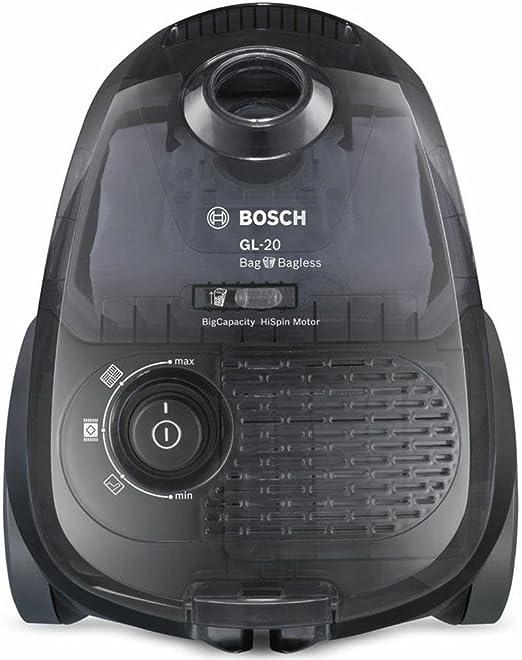 Bosch BGL2B1128 GL-20 Bag & Bagless - Aspirador con bolsa, 700 W, filtro higiénico, color gris: Amazon.es: Hogar