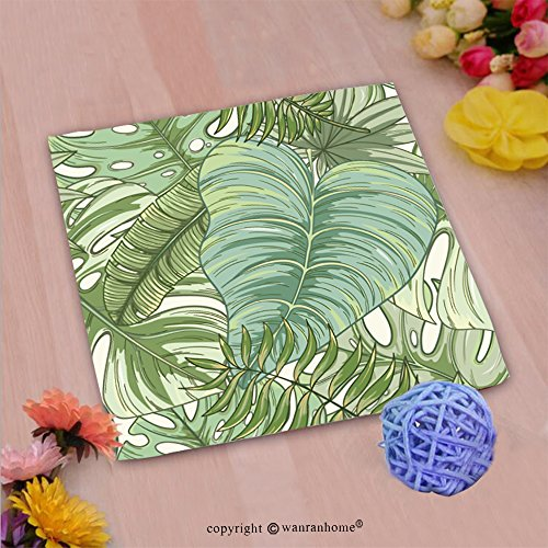 VROSELV Custom Cotton Microfiber Ultra Soft Hand Towel-seamless tropical palm leaves pattern summer endless hand drawn vector background of areca pal Custom pattern of household products(14