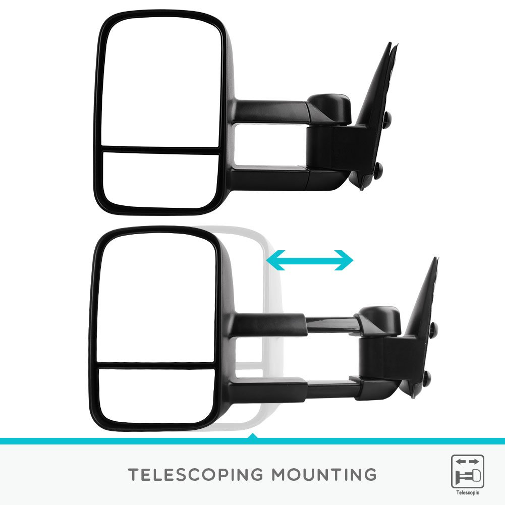 YITAMOTOR Towing Mirrors for Chevy GMC, Manual No-Heated Tow