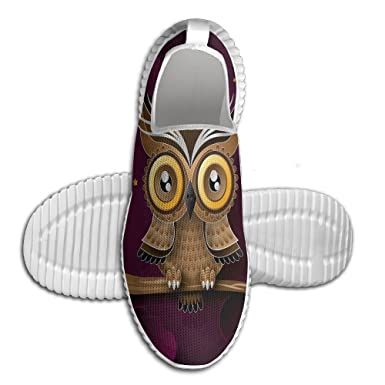 4710c35860050 Amazon.com: Unisex Flyknit Shoes Cute Owl Lightweight 3DPrinted ...