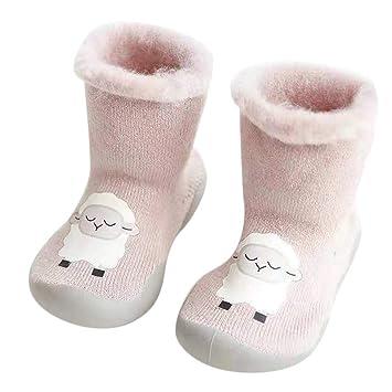 Toddler Baby Kid Socks Shoes Cotton High Knee Frist Walk Anti Slip Rubber  USA
