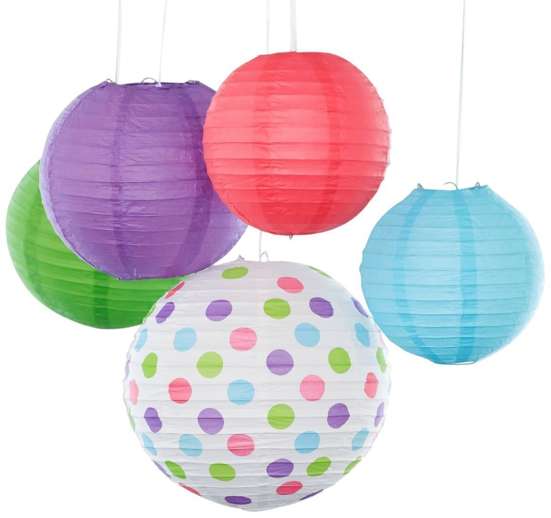 Amazon Com Bobee Paper Lanterns For Birthday Party Baby Bridal