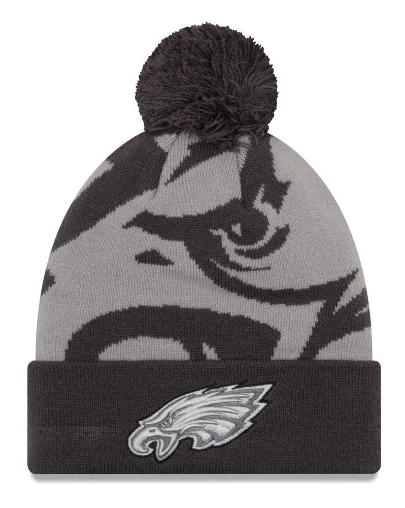 Amazon.com   New Era Philadelphia Eagles Youth NFL JR Logo Whiz 3 Gray  Cuffed Knit Hat   Sports   Outdoors b2cf30310