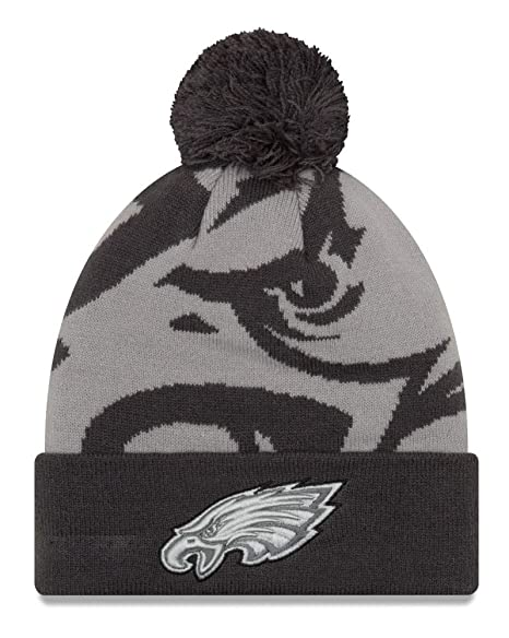 6f685751082 Image Unavailable. Image not available for. Color  New Era Philadelphia  Eagles Youth NFL JR Logo Whiz 3 Gray Cuffed Knit Hat