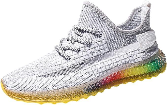 Zapatos de Running para Hombre Mujer Zapatillas Deportivo Outdoor Calzado Asfalto Sneakers Negro Rojo Gris 35-44: Amazon.es: Ropa y accesorios