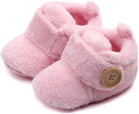 Unisexe b/éb/é Premium Doux Semelle antid/érapante pour Nourrissons Prewalker Chaussures Enfant en Bas /âge Butterme Nouveau-n/é Fleece Bootie