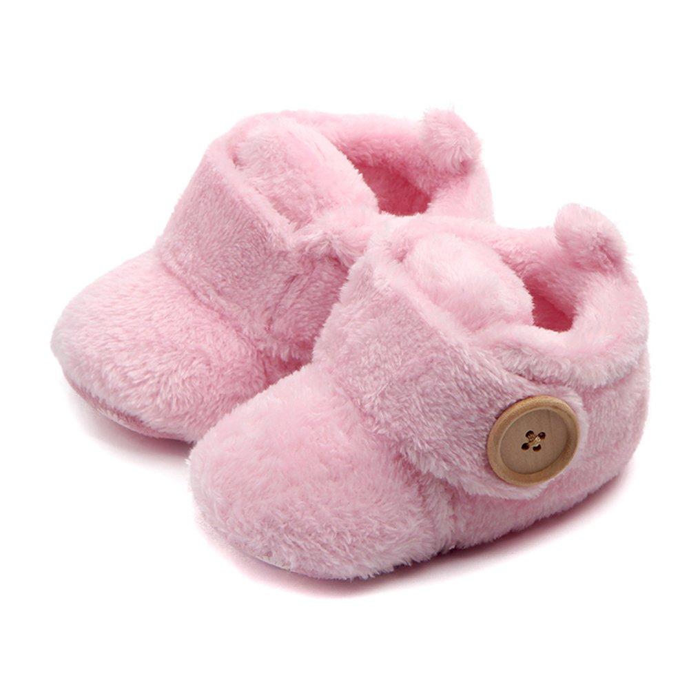 Butterme Nouveau-né Fleece Bootie, unisexe bébé premium, doux Semelle antidérapante pour nourrissons Prewalker Chaussures enfant en bas âge unisexe bébé premium ZUMUii ZUMU00005618