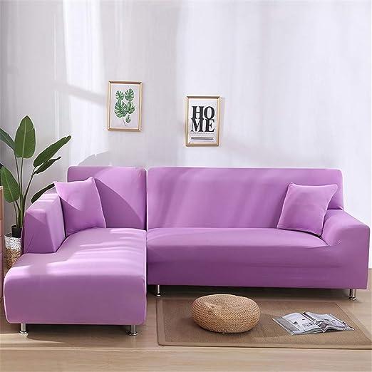 GSJFT Simple y Moderno Color sólido Funda Cubre Sofá Cuatro ...