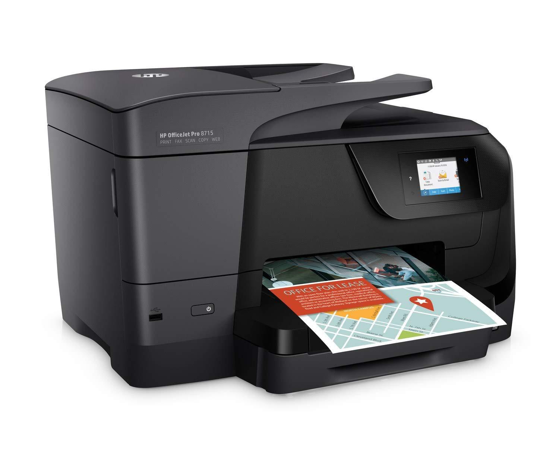 HP Officejet Pro 8715 – Impresora multifunción (Tinta Color, WiFi, fax, copiar, escanear, impresión a Doble Cara, 1200 x 1200 PPP, A4, Incluido 3 ...