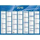 Quo Vadis - 1 Calendrier De Banque Bleu 43x34 cm - Janv. à Déc. 2018