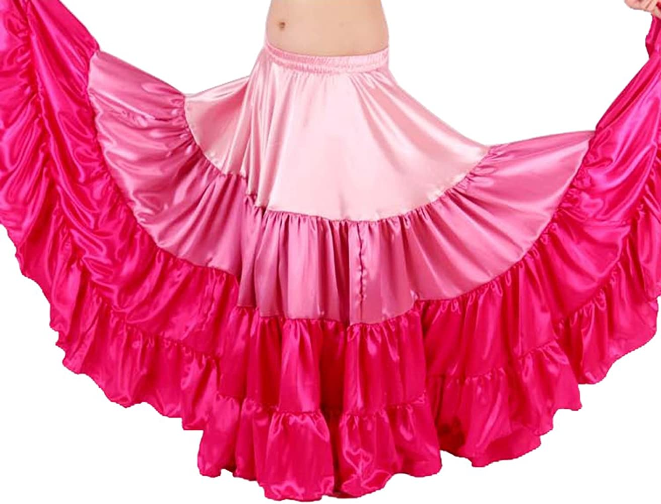 Satin Gypsy 25 Yard Skirt form India for American Tribal Style Belly Dancing