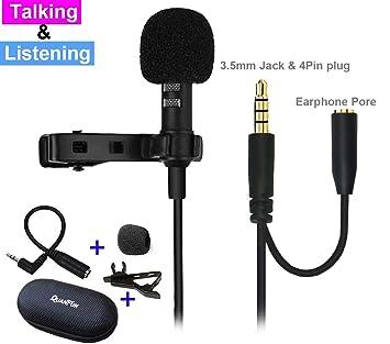 Doppelfunktion Lavalier Mikrofon Clip auf: Amazon.co.uk: Camera & Photo