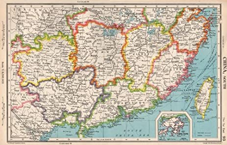 Amazon southern china fukien kiangsi hunan kwangtung taiwan fukien kiangsi hunan kwangtung taiwan hong kong 1952 old map gumiabroncs Choice Image
