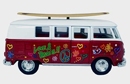 Image Unavailable. Image not available for. Color  1962 Volkswagen Bus PEACE    LOVE ... 90b047169