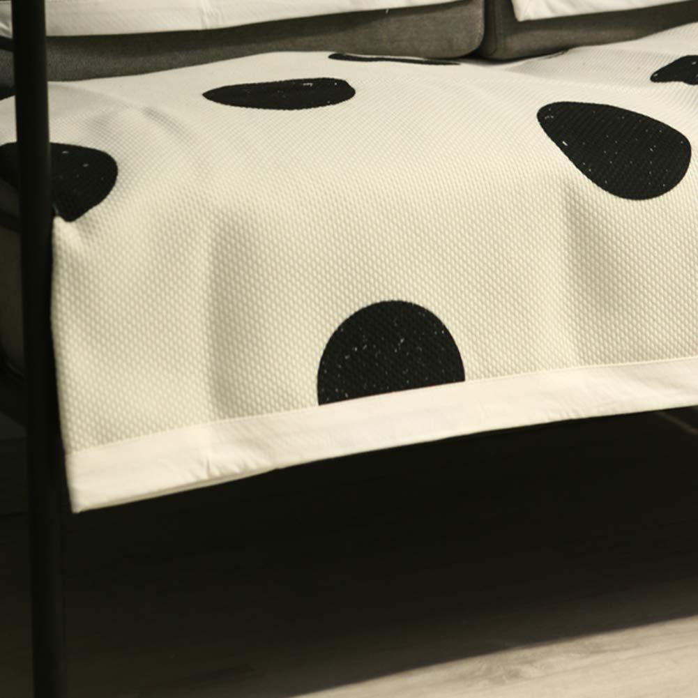滑り止め ソファ カバー ストレッチ カバーs スリップのバッキングを削減 黒の白のストライプ ソファ タオル 持続可能です ソファの家具カバー-B 105x210cm(41x83inch) 105x210cm(41x83inch) B B07KMYPFDQ