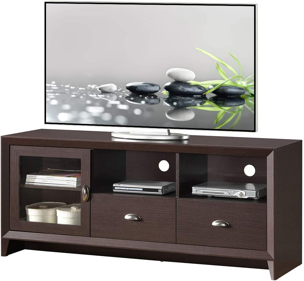 Techni Mobili Modern Stand with Storage for TVs Up to 60 , Wenge