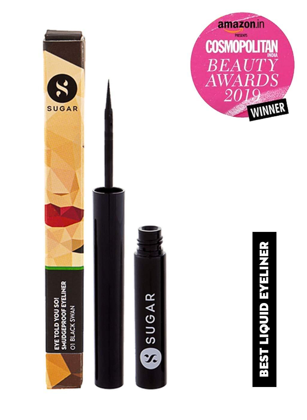 SUGAR Cosmetics Eye Told You So Smudgeproof Eyeliner 01 Black Swan Black , 1.75 ml