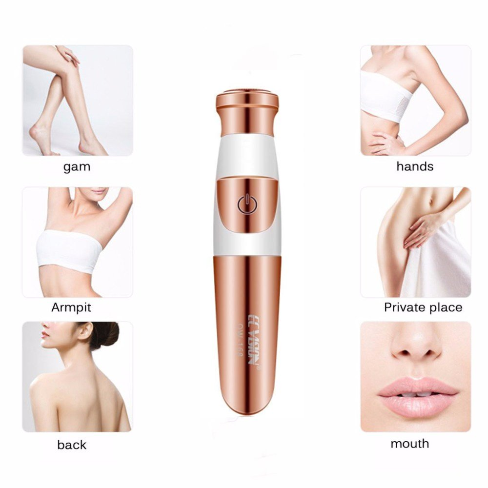 Tezam Facial Hair Removal for Women, Ladies Face Hair Trimmer Painless Facial Hair Trimmer Razor Epilator Portable Women Shaver for Face Leg Armpit Arm Bikini Line Body