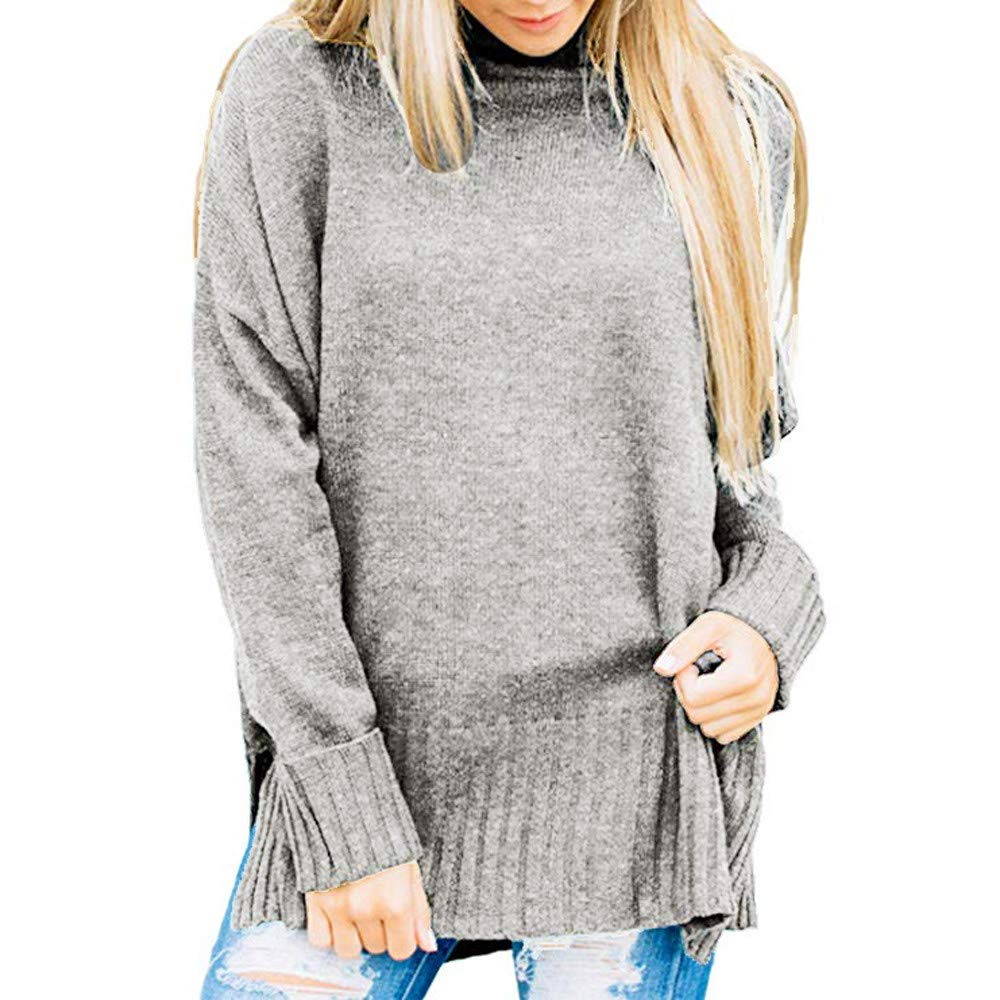 Maglieria Donna, Hanomes Womens Loose Oversized Casual Turtle Neck Maglione Pullover Top Shirt