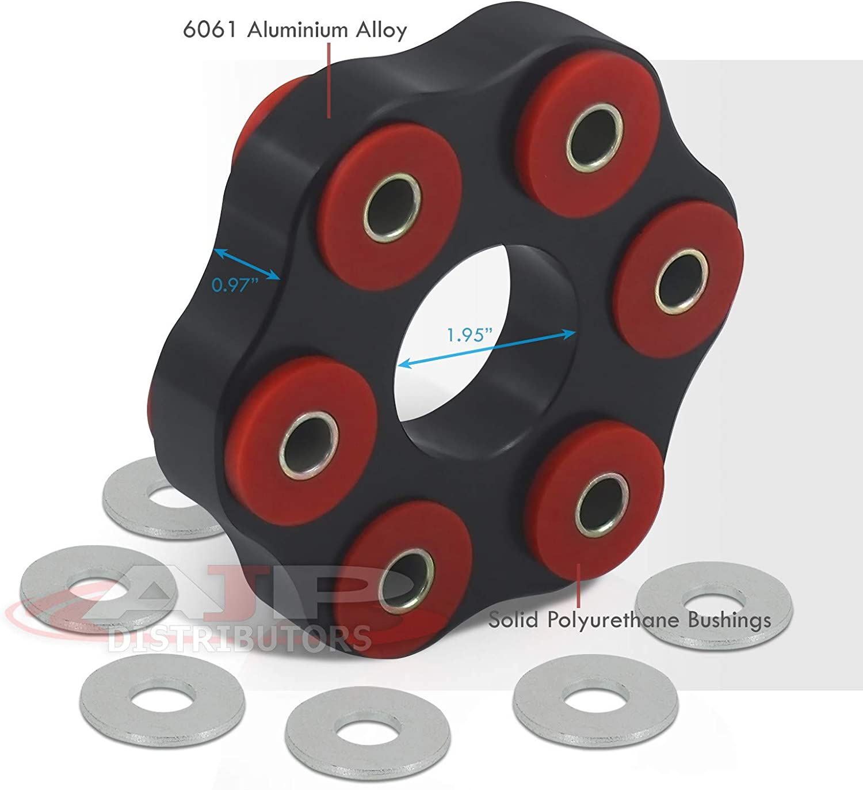 SC300 SC400 Soarer AJP Distributors Replacement JDM Performance Aluminum Drive Shaft Flex Joint Disc 12mm Polyurethane Bushing 37511-24010 For Supra MK4 A80 GS300 GS400 GS430 Aristo 2JZ-GE 1UZ-GE